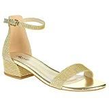 AARZ LONDON Femmes Dames Brillant Soir Mariage Fête de Mariée Promo Plate Forme Bloquer le Talon des Sandales Chaussures Taille