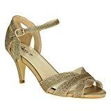 AARZ LONDON Femmes Dames Miroiter Soir Mariage Fête de Mariée Promo Plate Forme Talon Haut des Sandales Chaussures Taille