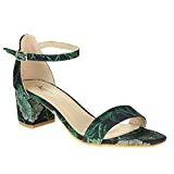 AARZ LONDON Femmes Dames Soir Mariage Fête Casual Open Toe Sangle de Cheville Moyen Bloc Sandale Chaussures Taille