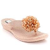 AARZ LONDON Femmes Dames Toe Post Décontractée Confort Été Poids Léger Plat Glisser Sur des Sandales Chaussures Taille