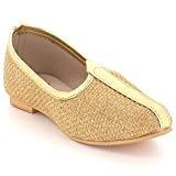 AARZ LONDON Gamins Garçons Bout fermé Mignonne Traditionnel Ethnique Mariage Indien Pompes Khussa Fait Main Jutti Mojari Glisser sur Chaussures ...