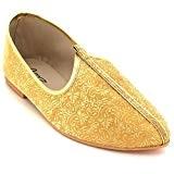 AARZ LONDON Hommes Jeune Marié Traditionnel Ethnique Mariage Indien Fait Main Pompes Khussa Jutti Mojari Glisser Sur Chaussures Plates Taille