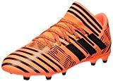 adidas Nemeziz 17.3 FG J, Chaussures de Football Garçon, Blanc/Rouge, 33 EU