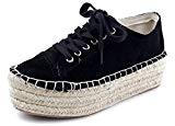 AgeeMi Shoes Femme Espadrille Rond Tire Chaussures à Plat