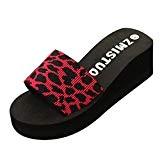 Amlaiworld Sandales Femmes, Été Femmes Chaussures Flops de Plage Wedge Sandales de Plage Antidérapant Pantoufles de Bain Plate-Forme Sandales Chaussures ...