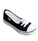 Amlaiworld Sandales Femmes, Femmes Chaussures de Toile de Mode Flats Mocassins Chaussures Occasionnels Respirable Chaussures Slip Plat