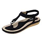Angelof Sandales Femmes, Sandales Plates BohèMe Femmes Chaussures Glisser Rivet Escarpin Pied Large D'éTé Grande Taille Sandales à Chevrons
