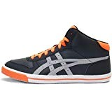 Asics AARON MT GS Chaussures Mode Sneakers Enfant Noir Orange Gris