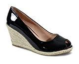 By Shoes Espadrille Compensée Style Cuir - Femme
