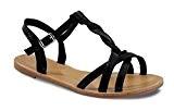 By Shoes Sandale Tressée Style Cuir - Femme