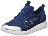 Calvin Klein Jeans Ron Mesh/Brushed Metal, Sneakers Basses Homme, Bleu