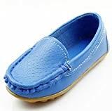DADAWEN Mixte Enfant A-Enfiler Leather Loafer Oxford Chaussure
