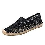 Dooxi Femmes Décontractée Plat Loafers Chaussures Mode Confort Antidérapant Dentelle Creux Espadrilles
