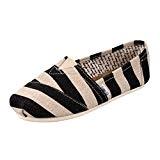 Dooxi Hommes Femmes Décontractée Plat Loafers Chaussures Confort Antidérapant Mode Rayures Espadrilles