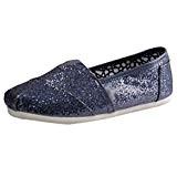 Dooxi Mixte Enfant Décontractée Plat Loafers Chaussures Mode Confort Antidérapant Paillettes Espadrilles