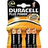 """DURACELL Pile alcaline """"PLUS POWER"""" MN1500 LR6 AA Blister de 4"""