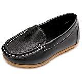 Eagsouni® Chaussure Bateau Mocassin Enfant Loisirs Confort Chaussures Fille Garçon Plates Loafers en Cuir Oxford