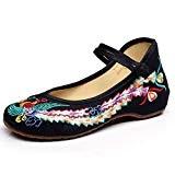 Eagsouni® Femmes confortable Compensées chinois phoenix toile brodé chaussures