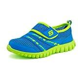 Eagsouni Mixte enfant Chaussures de Running Entrainement, Hook and Loop,Fitness Multisport Extérieurs,Athletic Sneakers