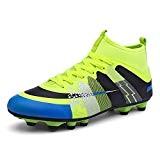 Easondea Chaussures de Football pour Enfants Chaussures de Football AG Spike pour Enfants Crampons AntidéRapant Chaussures de Sport pour Adolescents