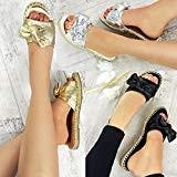 Fashion Thirsty Espadrilles Style Claquettes - à Enfiler - Noeud Décoratif - Femme