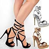 Fashion Thirsty Sandales à Talons Aiguilles Hauts - à Brides/Lacets - Femme