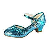Free Fisher Chaussures à Talon bas Fille Enfant Paillette Ballerine Bal Ballet Cérémonie Mariage