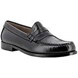 G.H. Bass Co. Mens Weejuns Larson Brogue Black Leather Shoes 41 EU