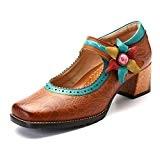 gracosy Mocassins Femmes, Escarpins en Cuir à Talons Hauts Mary Janes Chaussures de Ville Habillées Printemps Eté 2018 - Style ...