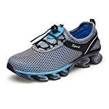 KuBua Chaussures de Sport Homme Femme Running Sneakers Mesh Chaussure de Course Compétition Shoes Trail Entraînement Marron Bleu Gris Rose ...