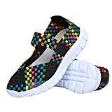 L-Run Femmes Water Shoes tissé Léger Glisser sur Les Chaussures de Sport Casual