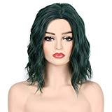 ❤️LILICAT Femmes Mode Dame Vert Foncé Petit Rolls Perruque Bouclés Cheveux Classiques Cosplay