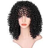 ❤️LILICAT Perruques Avant Pour Les Femmes Noires Longue Bouclés Cheveux 56 cm Afro Chaleur Perruques De Cheveux Mode Classiques Belle ...