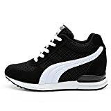 LILY999 Baskets Compensées Femmes Chaussure de Sport Gym Fitness Sneakers Basses Compensées 7 cm Jogging Voyage Respirantes