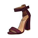 LUCKYCAT Prime Day Amazon, Sandales d'été Femme Chaussures de Été Sandales à Talons Chaussures platesBoucle Ceinture Cheville Commune Talons Hauts ...