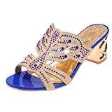 LUCKYCAT Prime Day Amazon, Sandales d'été Femme Chaussures de Été Sandales à Talons Chaussures Plates Mode Talon Gao Décoration de ...