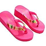 LUCKYCAT Prime Day Amazon, Sandales d'été Femme Chaussures de Été Sandales à Talons Chaussures Plates Sandales Plate-Forme Plage Coin Plat ...