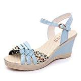 LUCKYCAT Prime Day Amazon, Sandales d'été Femme Chaussures de Été Sandales à Talons Chaussures Plates Bohême Femmes Wedges Chaussures Sandales ...