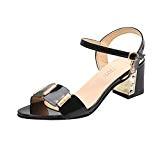 LUCKYCAT Sandales d'été Femme, Prime Day Amazon Chaussures de Été Sandales à Talons Chaussures Plates Département Chaussures à Talons Parties ...