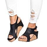 LUCKYCAT Sandales d'été Femme, Prime Day Amazon Chaussures de Été Sandales à Talons Chaussures Plates Pente Rivets Bouche de Poisson ...