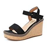 LUCKYCAT Sandales pour Femme, Prime Day Amazon Chaussures de Été Sandales à Talons Bouche de Poisson Plateforme Talons Hauts Pente ...