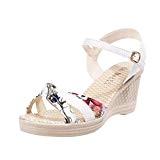 LUCKYCAT Sandales pour Femme, Prime Day Amazon Chaussures de Été Sandales à Talons SandalesSandales Compensées Summer Sandals Platform Toes Chaussures ...