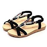 LUCKYCAT Sandales pour Femme, Prime Day Amazon Chaussures de Été Sandales à Talons Sandales Chaussures Bout Ouvert Chaussures Basses Sandales ...