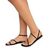 ❤️luoluoluo❤️ Sandales Femmes Plates,MORBARRZ Femmes Été Strappy Gladiateur Bas Talon Plat Tongs Sandales de Plage Chaussures Toe D'extérieur Sangles Tressées ...