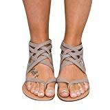 Meedot Femmes Sandales Peep Clip Toe Chaussures Retourner Flops Plate Chaussures Lanière Zip Herringbone Chaussures 35-43