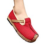 MISSMAO Femme Espadrilles Bout Rond Confortable Chaussures Vintage Chinois Style