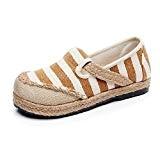 MISSMAO Femme Espadrilles Rayures Chaussures d'été de Bout Rond à Enfiler Confortable Et Respirant