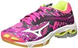 Mizuno Wave Lightning Z4 Wos, Chaussures de Volleyball Femme, Rose/Gris/Blanc