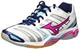 Mizuno Wave Stealth Wos, Chaussures de Gymnastique Femme, Blanc