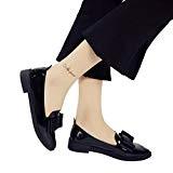 OverDose,Chaussures Plates Mocassins Larges à Bout Pointu Femme Cuir Ballerines Style Avec Nœud